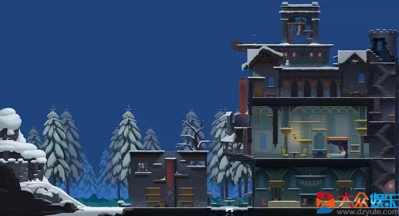 图二:略显阴森的雪夜古堡地图.jpg